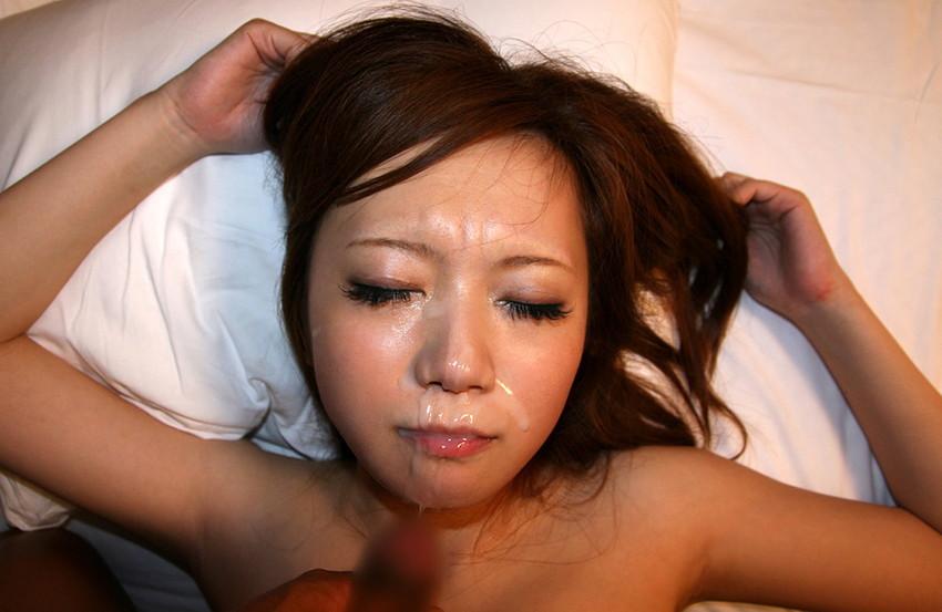 【顔射エロ画像】女の子の顔面に男の欲望の汁をぶっかけたったwwwww 64