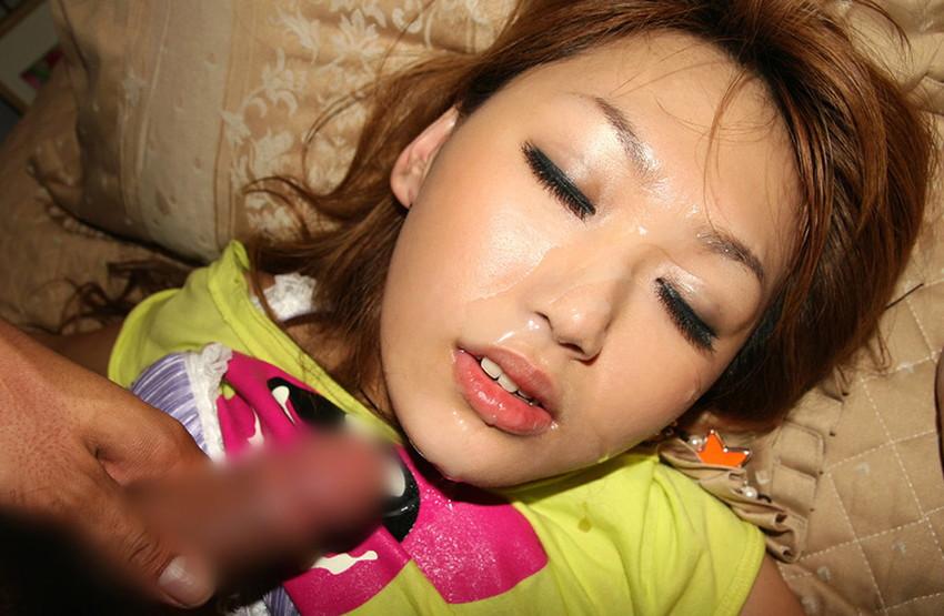 【顔射エロ画像】女の子の顔面に男の欲望の汁をぶっかけたったwwwww 67
