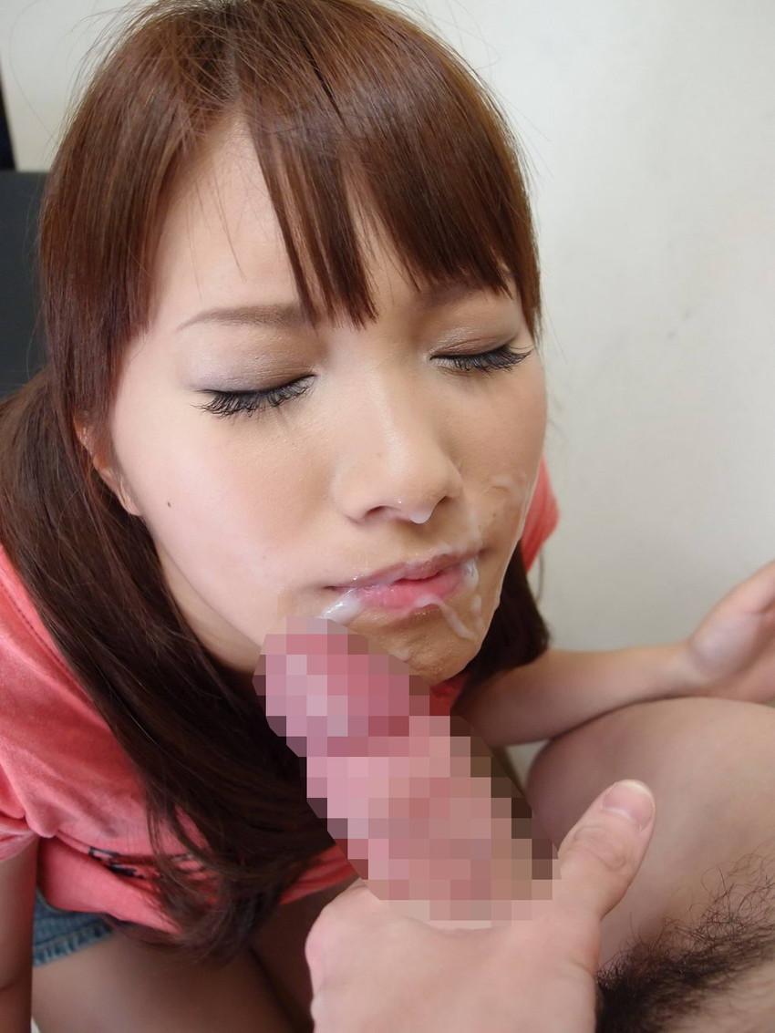 【顔射エロ画像】女の子の顔面に男の欲望の汁をぶっかけたったwwwww 69