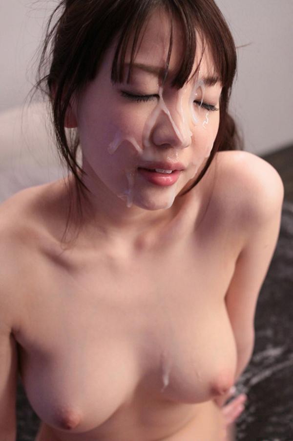 【顔射エロ画像】女の子の顔面に男の欲望の汁をぶっかけたったwwwww 73