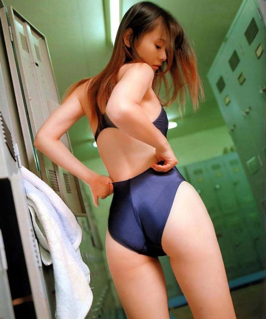 【競泳水着エロ画像】ガチでエロいぞこの水着!これで競泳用だと言うのだから驚き! 80