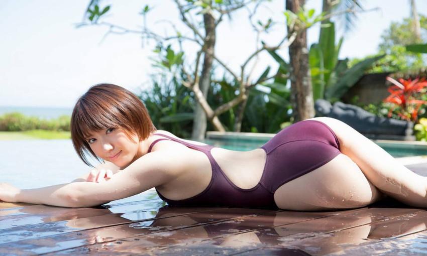 【競泳水着エロ画像】競泳水着と侮るなよ!?競泳水着ってこんなにエロいんだぜ! 65