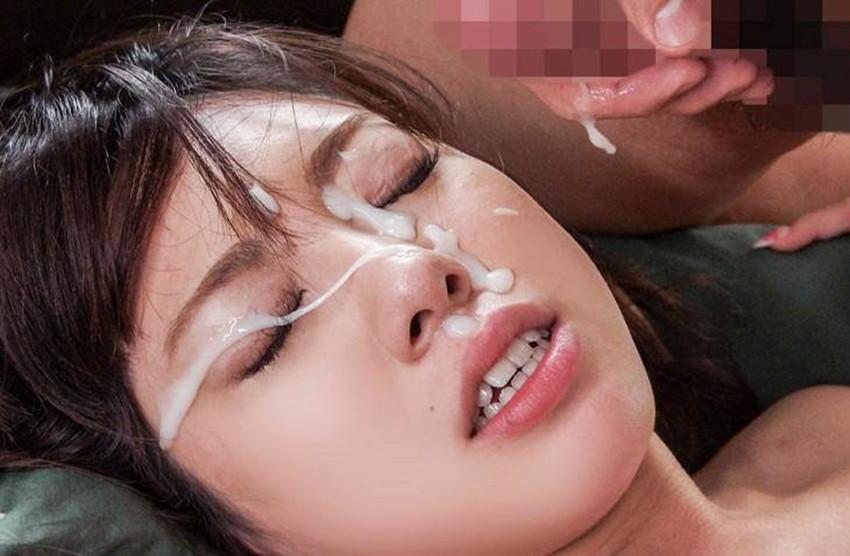 【顔射エロ画像】女の子の顔面がザーメンにまみれた卑猥な画像で抜く!? 53