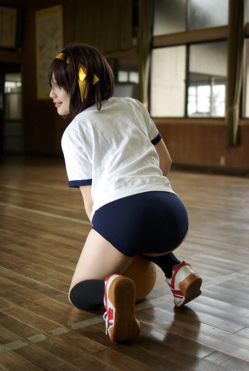 【体操服エロ画像】ワイ、学生時代の体育の時に女子のこんな格好に勃起してたなww 17