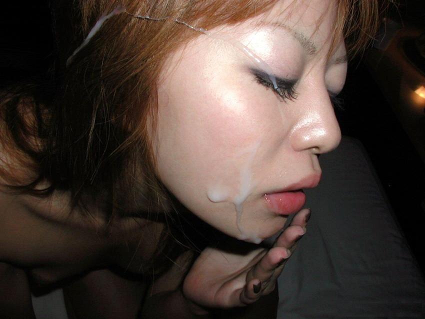 【顔射エロ画像】男の支配欲を満たす!顔射の餌食化した女子たちの卑猥な表情! 80