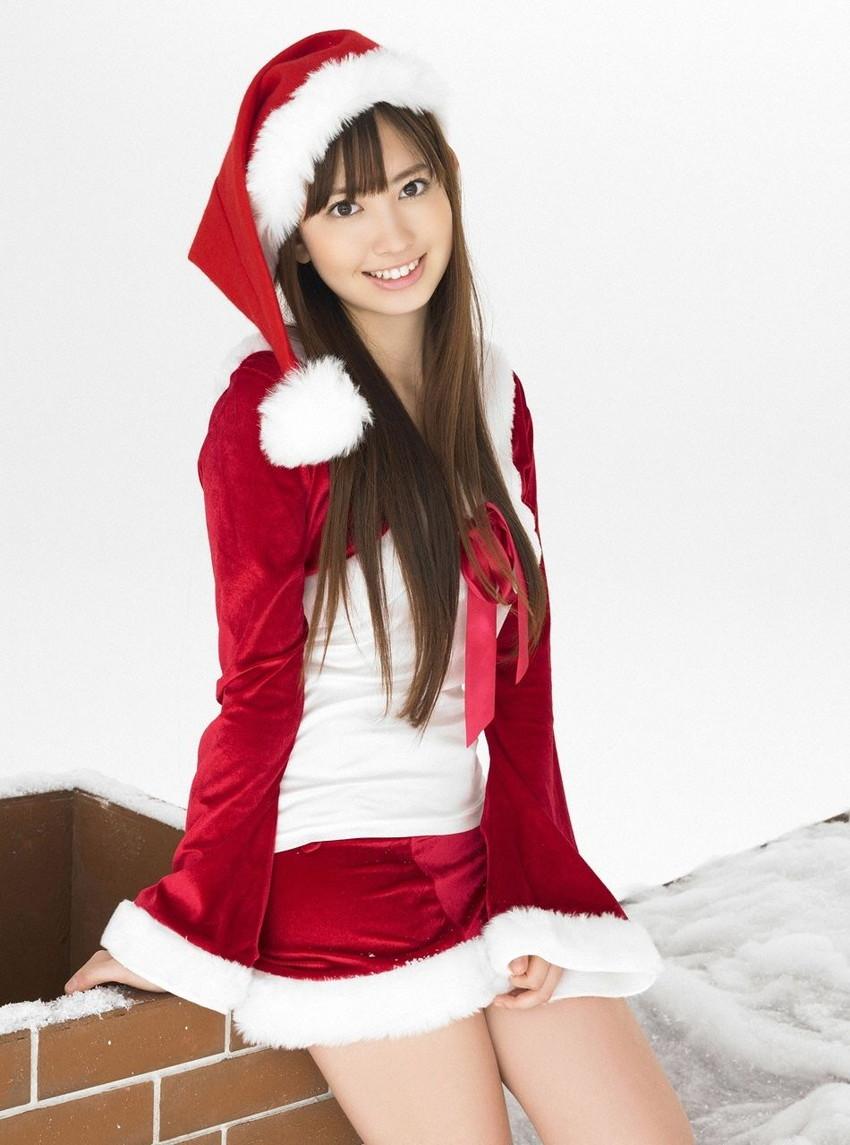 【サンタコスプレエロ画像】こんなエッチなサンタ!クリスマスイブに降りて来い! 46