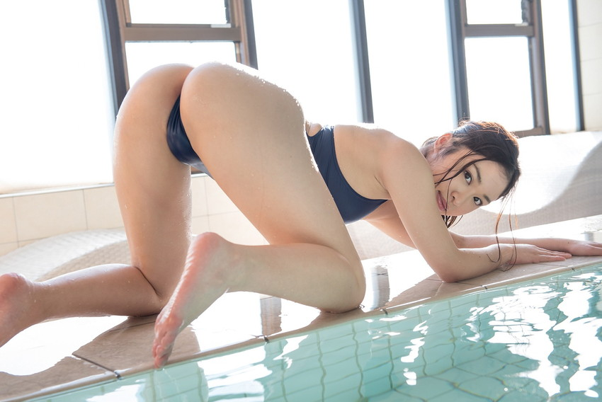 【競泳水着エロ画像】競泳水着って実はエロい!?これが競泳用かよッ! 54