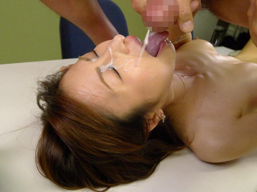 【顔射エロ画像】顔射された女子たちの卑猥なザーメンまみれの顔を見よ!! 02
