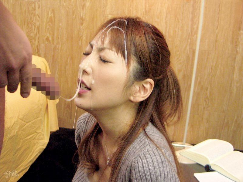 【顔射エロ画像】顔射された女子たちの卑猥なザーメンまみれの顔を見よ!! 52
