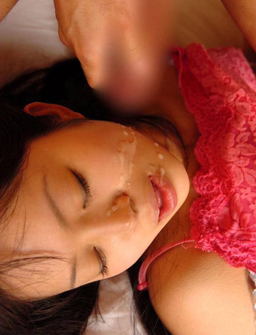 【顔射エロ画像】顔射された女子たちの卑猥なザーメンまみれの顔を見よ!! 54