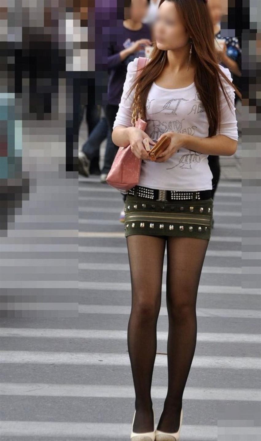 【ミニスカエロ画像】美脚、むき出しの太もも!春よ来い!美脚ミニスカエロ画像 55