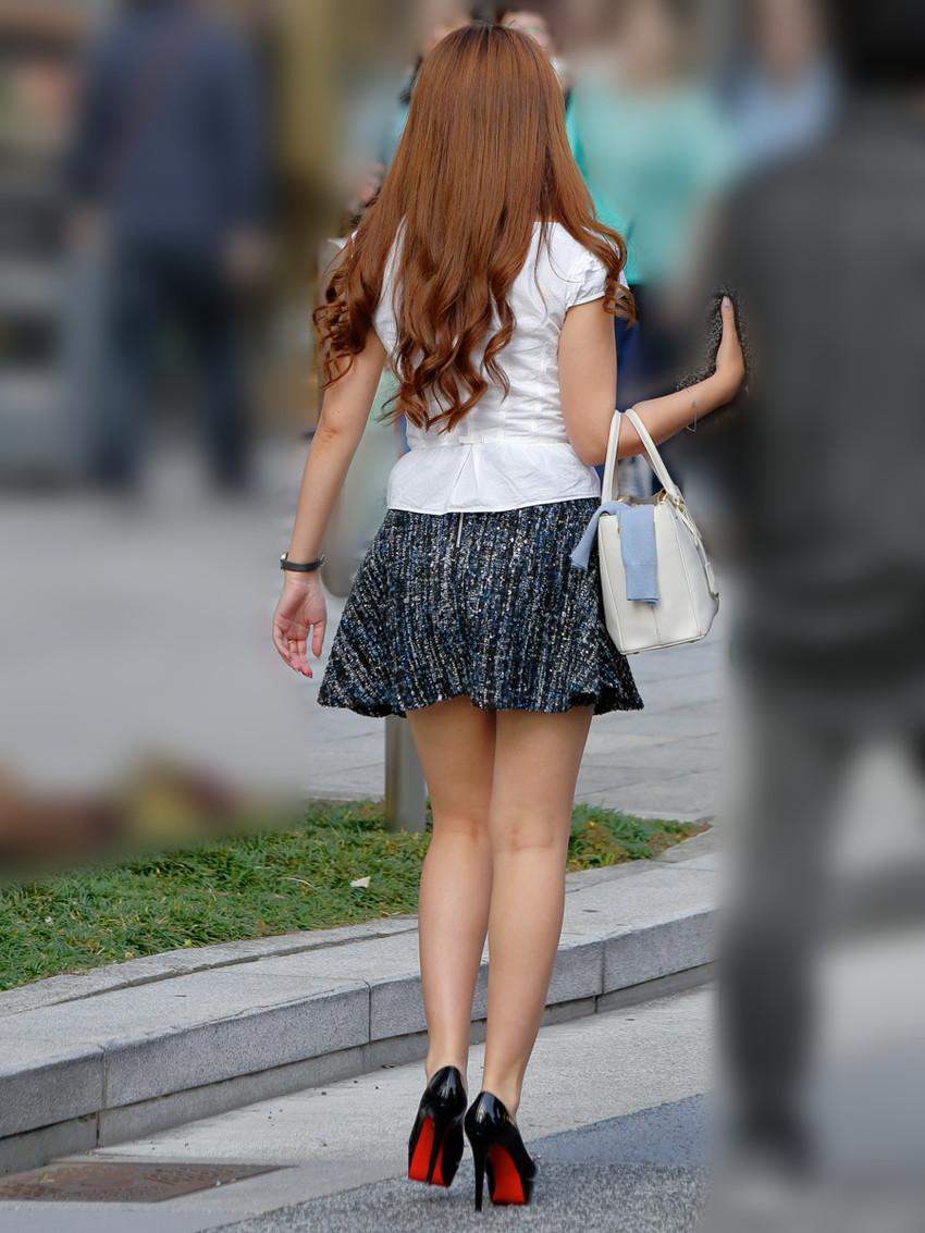 【ミニスカエロ画像】美脚、むき出しの太もも!春よ来い!美脚ミニスカエロ画像 73
