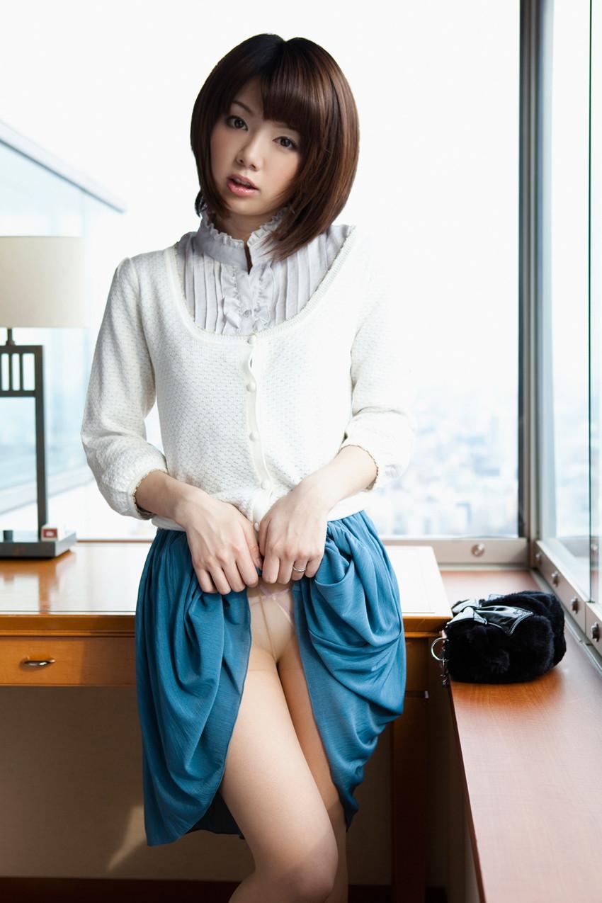 【セルフパンチラエロ画像】女の子からスカートを撒くってパンチラ披露wwww 66