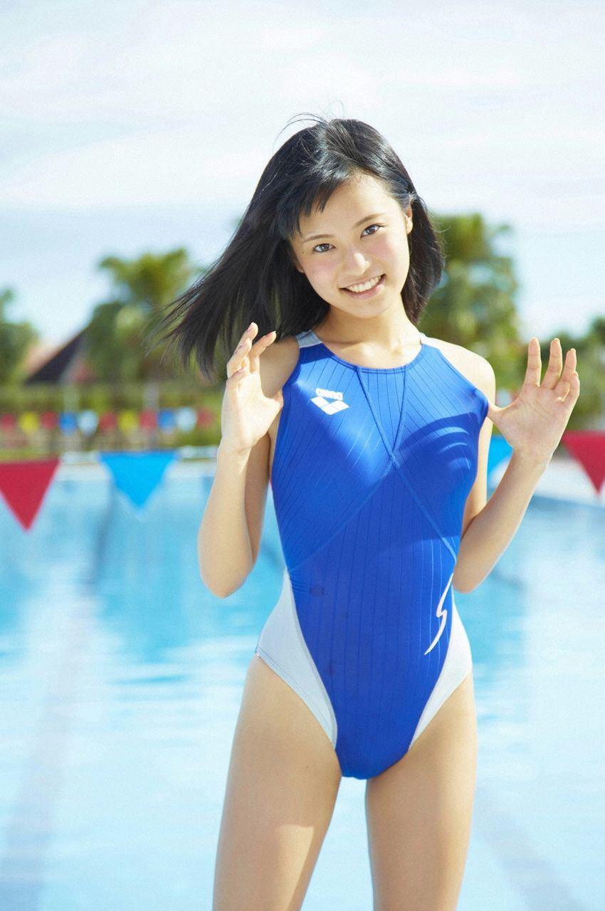 【競泳水着エロ画像】夏来い!水着の女の子たちが見たい!今回は競泳水着! 44