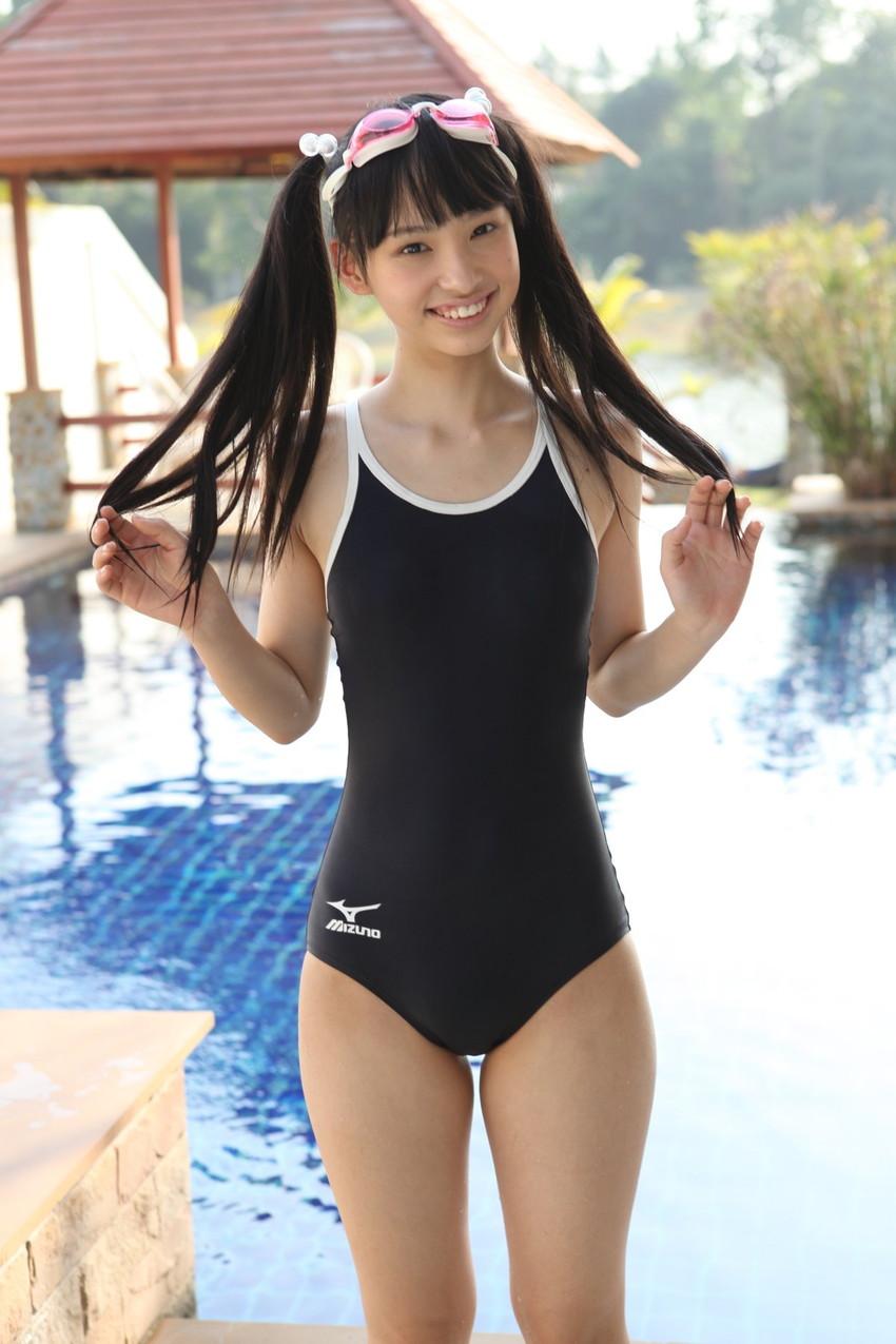 【スク水エロ画像】スクール水着姿の女の子の画像集めたら下半身が反応してしまったw 71