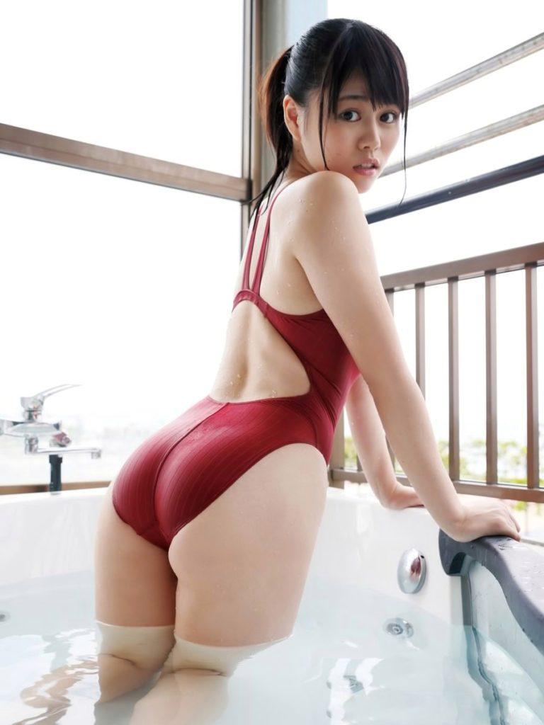 【競泳水着エロ画像】ヘタなビキニよりも抜ける!?意外にもエロい競泳水着 53