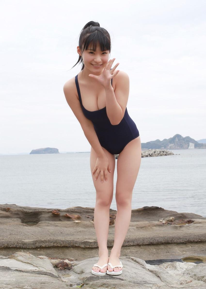 【スク水エロ画像】ビキニ水着もソソるけど、たまにはこんなマニアックな水着もイイ! 23