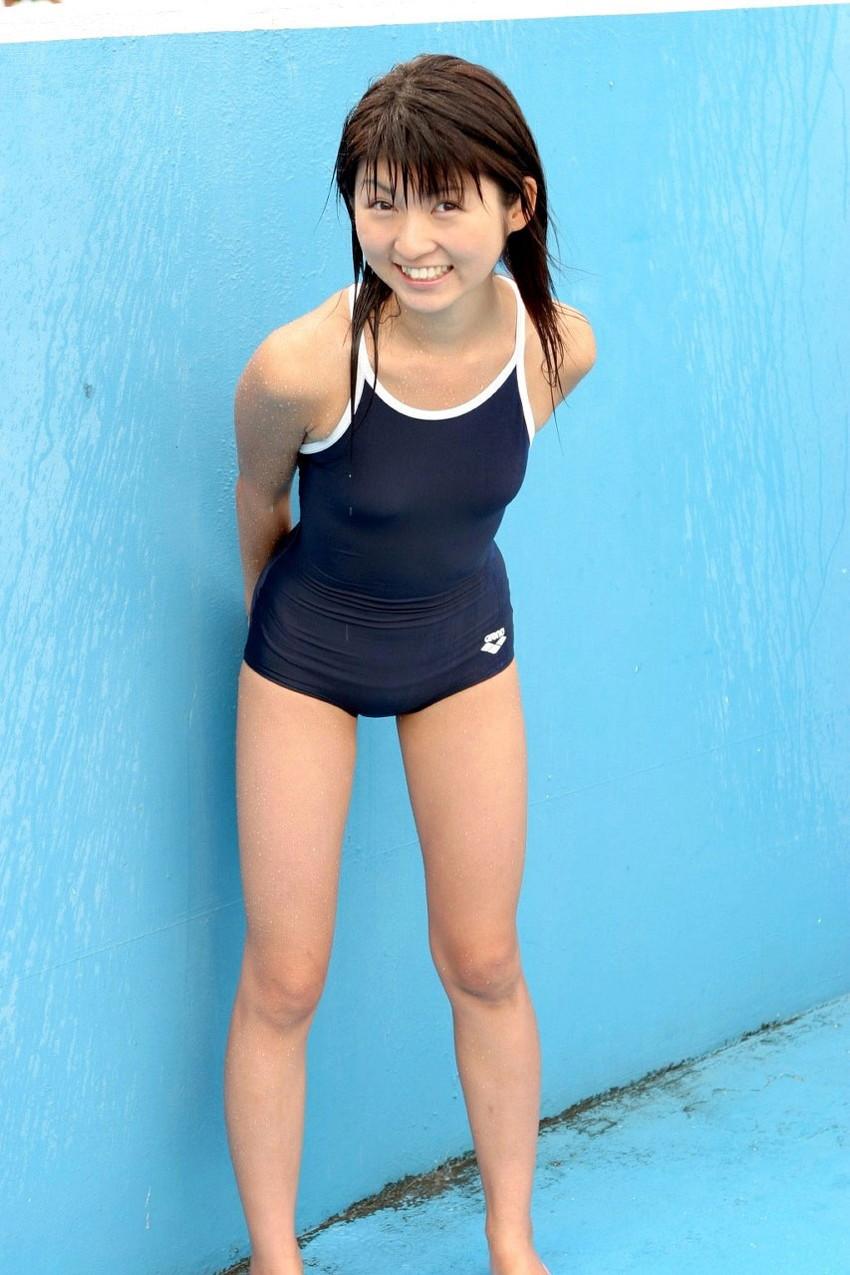 【スク水エロ画像】ビキニ水着もソソるけど、たまにはこんなマニアックな水着もイイ! 24