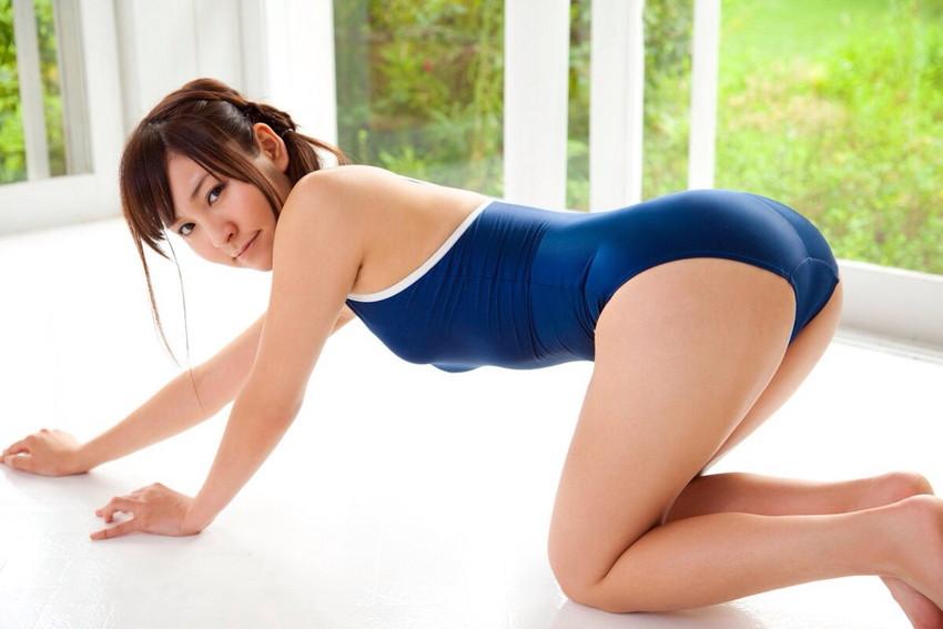 【スク水エロ画像】ビキニ水着もソソるけど、たまにはこんなマニアックな水着もイイ! 27