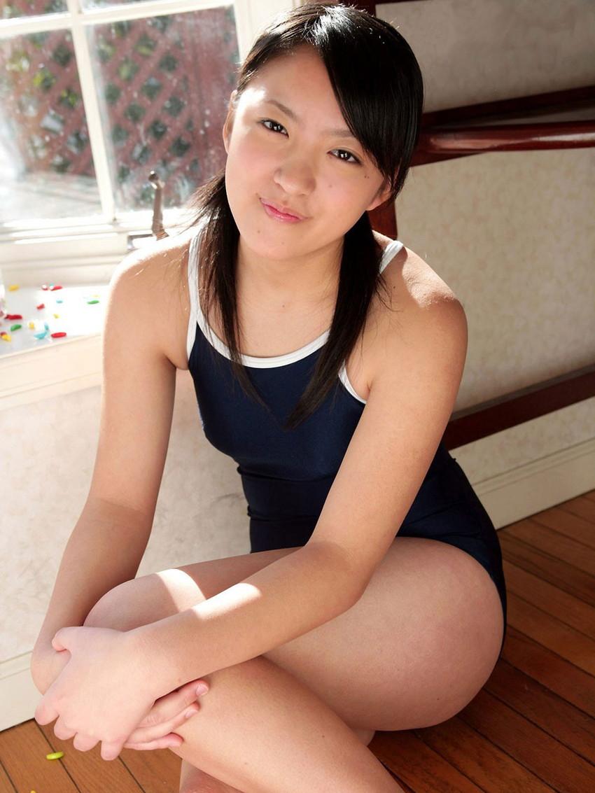 【スク水エロ画像】ビキニ水着もソソるけど、たまにはこんなマニアックな水着もイイ! 35