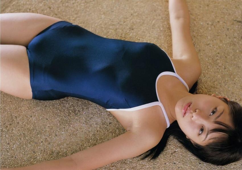 【スク水エロ画像】ビキニ水着もソソるけど、たまにはこんなマニアックな水着もイイ! 51