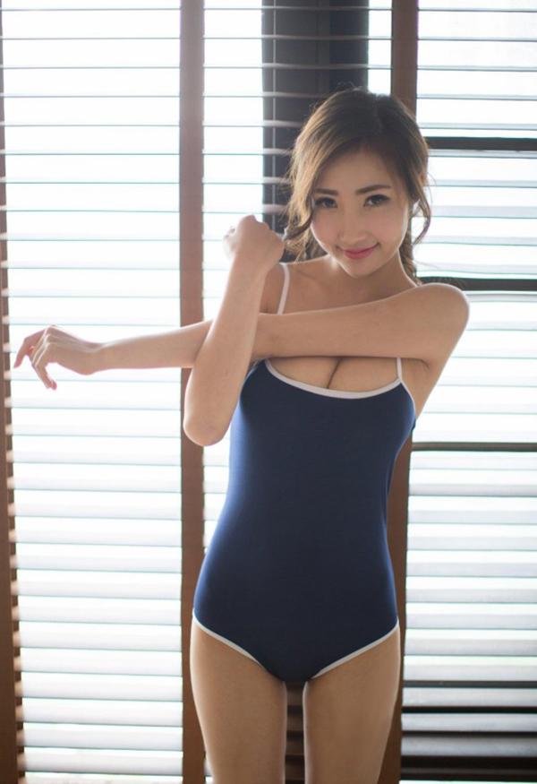【スク水エロ画像】ビキニ水着もソソるけど、たまにはこんなマニアックな水着もイイ! 75