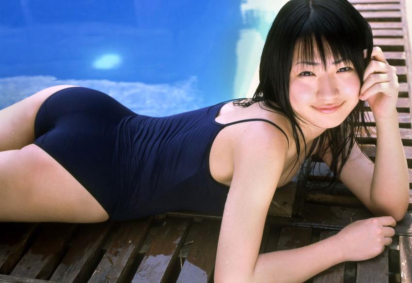 【スク水エロ画像】マニアックでも興奮してしまう!スクール水着美少女!? 07