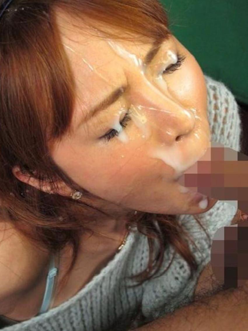 【顔射エロ画像】顔中がザーメンまみれ!卑猥な顔射後の女の子の表情がイイ! 63