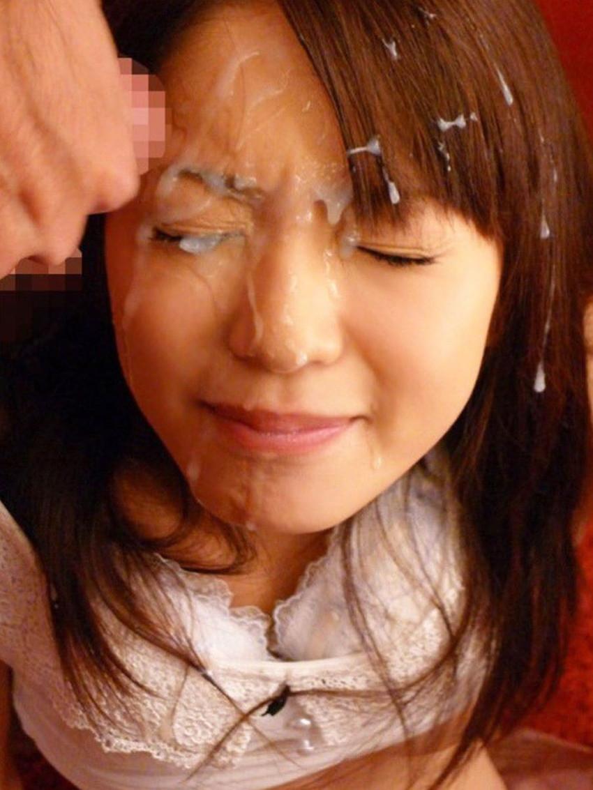 【顔射エロ画像】顔中がザーメンまみれ!卑猥な顔射後の女の子の表情がイイ! 82