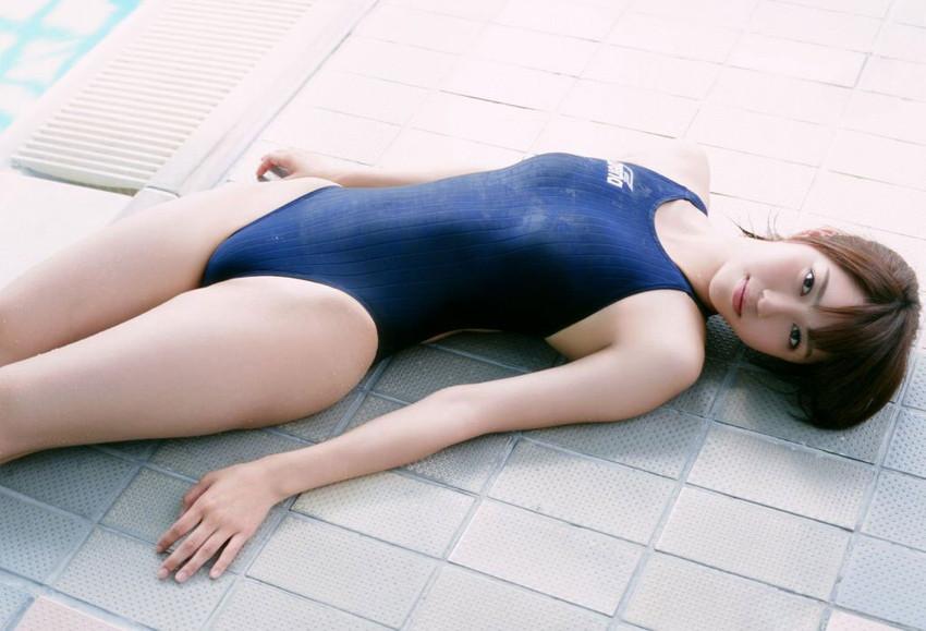 【競泳水着エロ画像】こんな水着…これが競泳用というから驚き!おっきした! 36