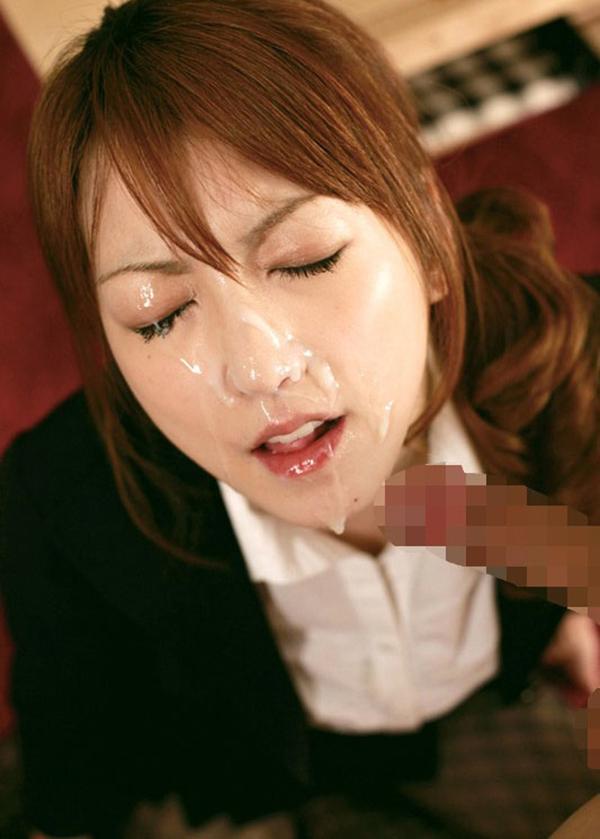 【顔射エロ画像】可愛いお顔がザーメンまみれ!顔射の餌食になった女の子! 63