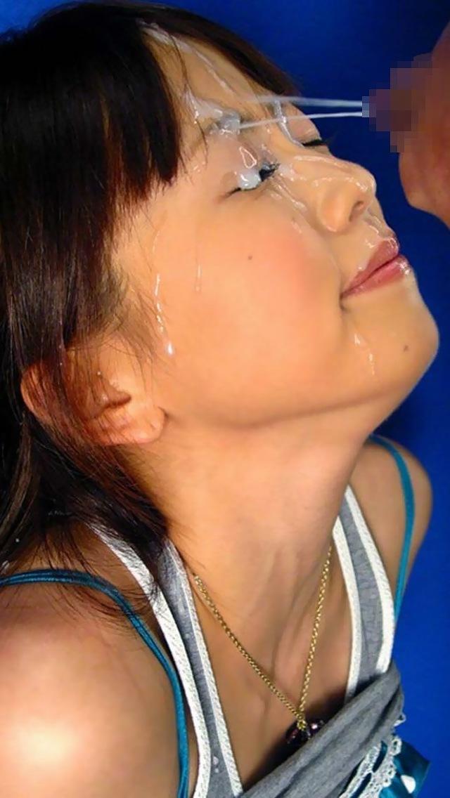 【顔射エロ画像】可愛いお顔がザーメンまみれ!顔射の餌食になった女の子! 71
