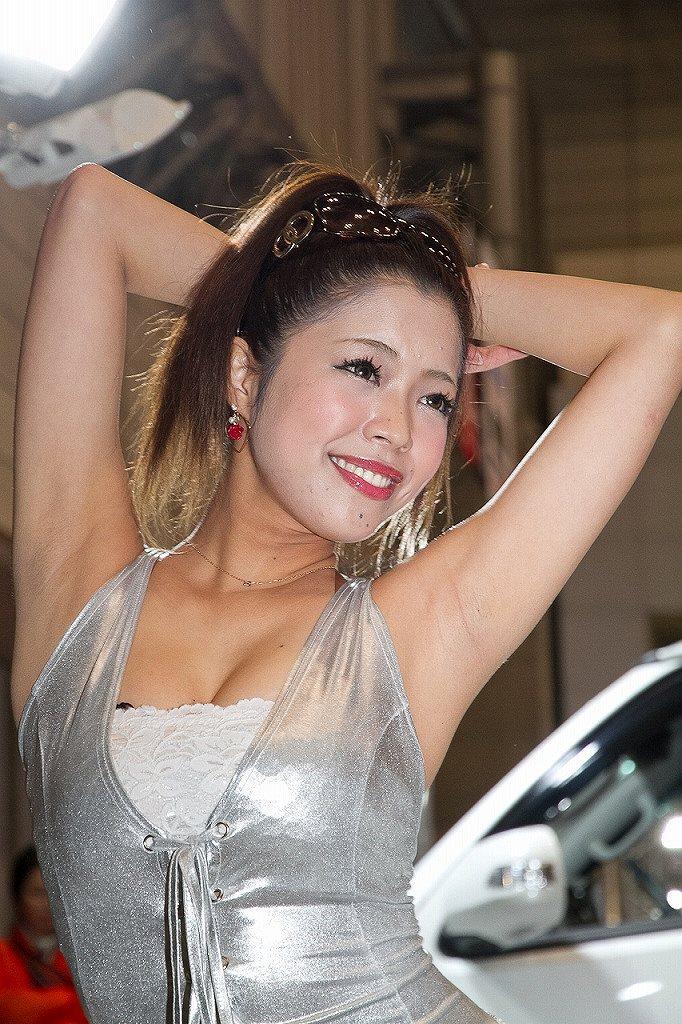 【キャンギャルエロ画像】過激コスチュームで観客を魅了する客寄せキャンギャル! 09