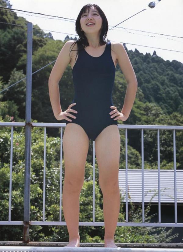 【スク水エロ画像】スクール水着姿のフレッシュな魅力いっぱいの美少女! 76