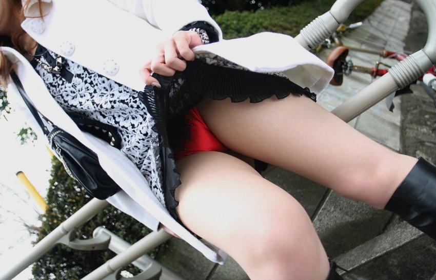 【セルフパンチラエロ画像】自らスカートの中を見せてくれるマジ天使!wwww 28