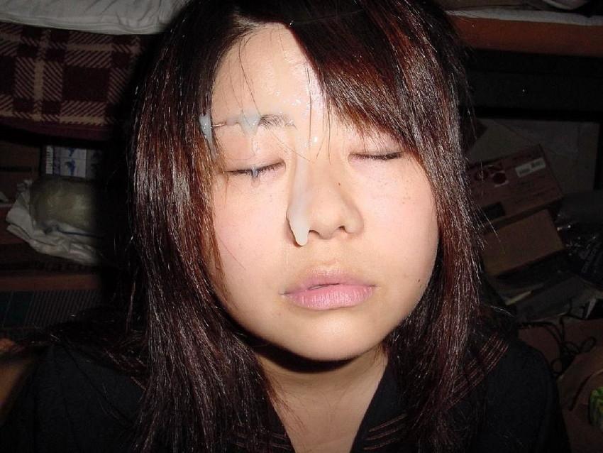 【顔射エロ画像】やっぱりエロい!顔中をザーメンだらけにされた女の子たちの卑猥な姿! 24