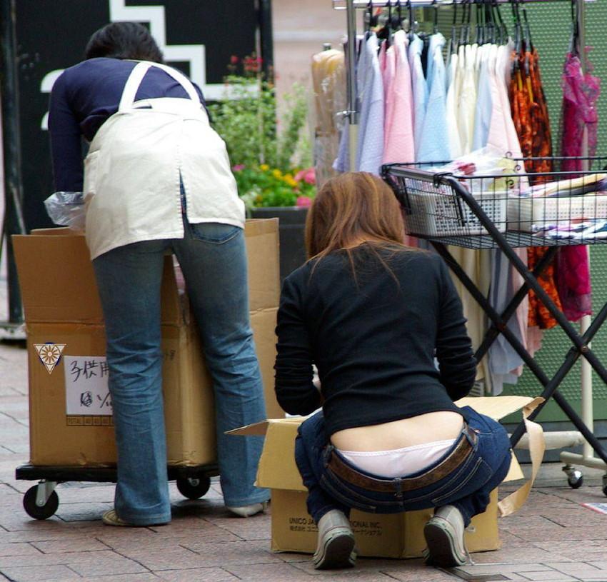 【ローライズエロ画像】過激すぎるファッションローライズの女の子たち! 09