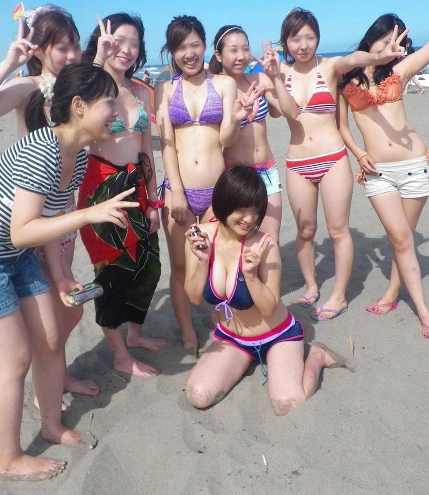 【素人水着エロ画像】こんな寒い時期だけど夏の素人の女の子たちの水着が見たい!w 02