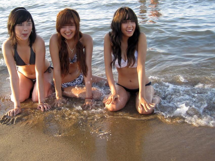 【素人水着エロ画像】こんな寒い時期だけど夏の素人の女の子たちの水着が見たい!w 10