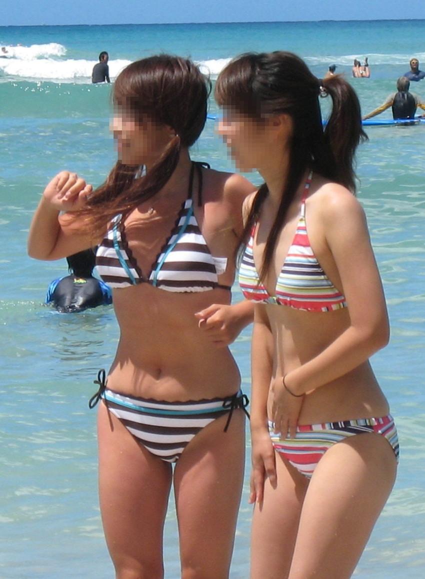 【素人水着エロ画像】こんな寒い時期だけど夏の素人の女の子たちの水着が見たい!w 33