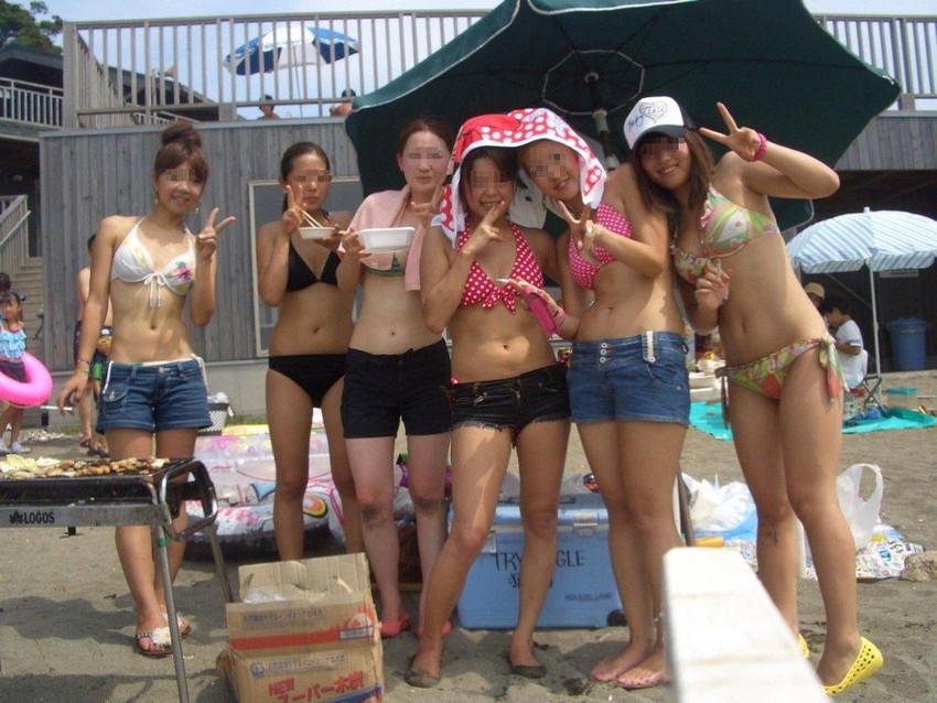 【素人水着エロ画像】こんな寒い時期だけど夏の素人の女の子たちの水着が見たい!w 46